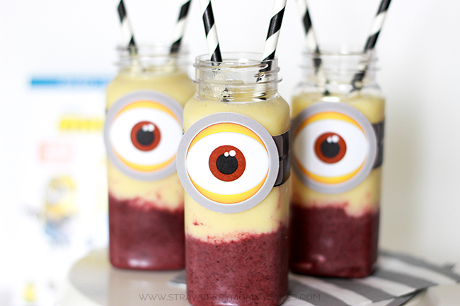 Yummy and Easy 2 Flavored Minion Smoothie