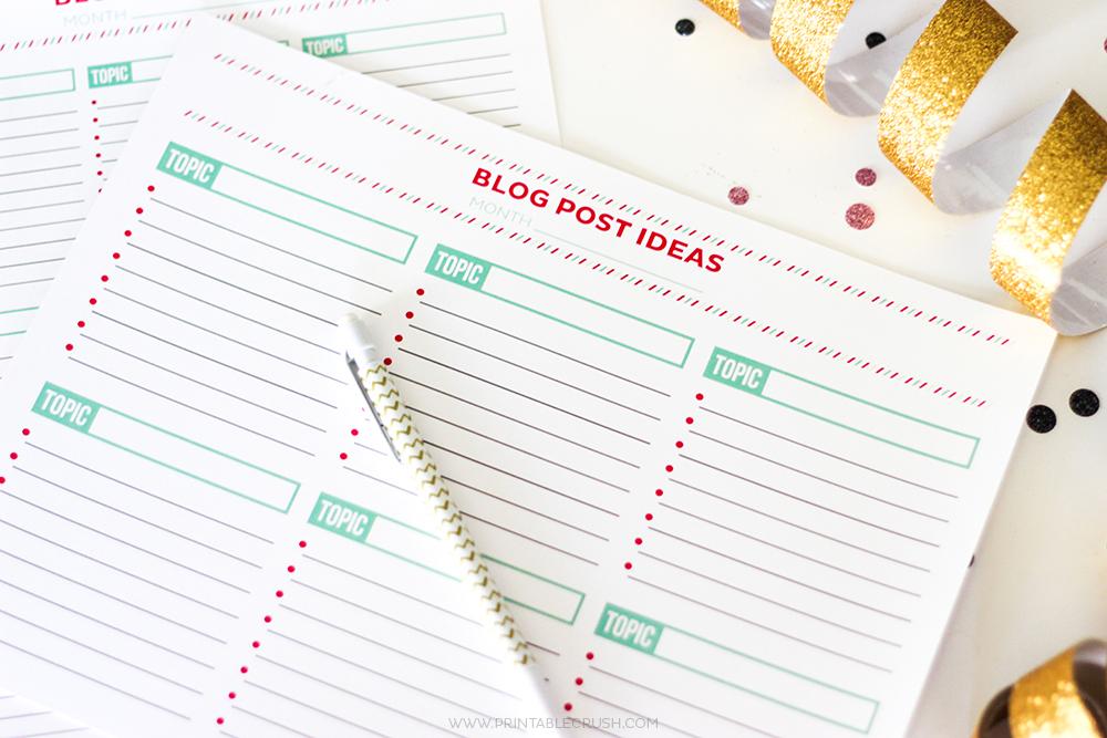 Brainstorm Blog Post Ideas with this FREE Printable Worksheet – Brainstorm Worksheet