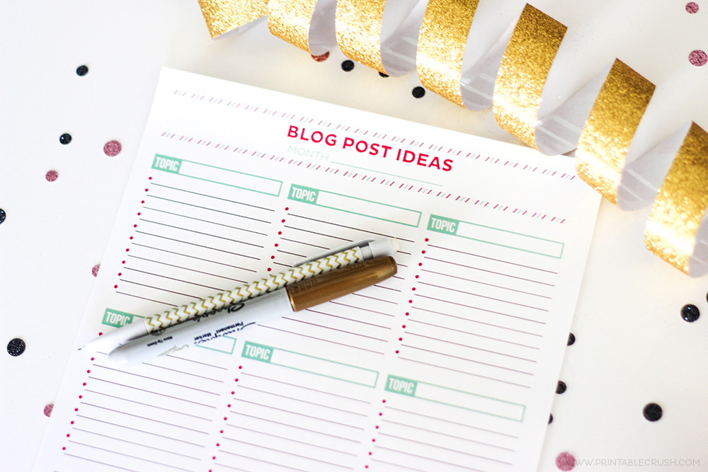 Brainstorm Blog Post Ideas with this FREE Printable Worksheet – Brainstorm Worksheet