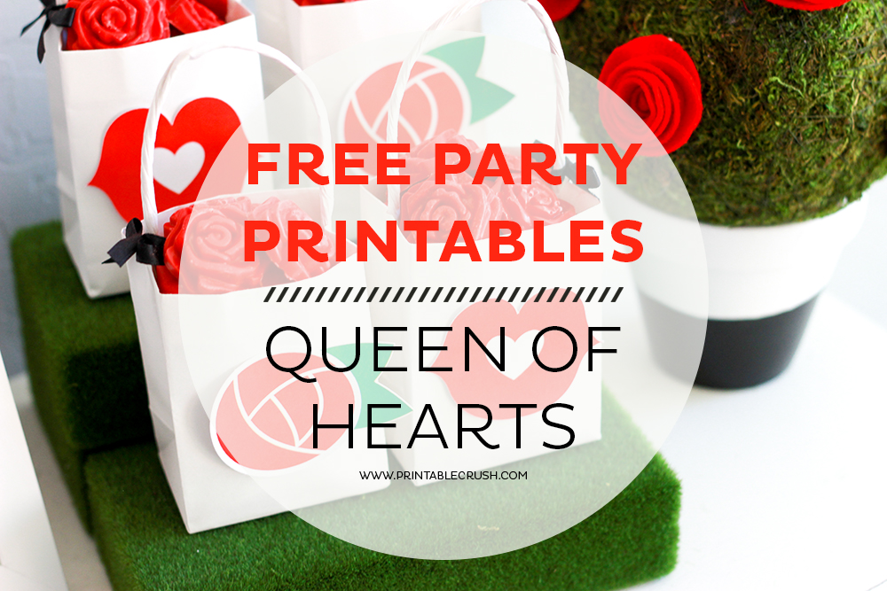 Free Queen Of Hearts Party Printables Printable Crush
