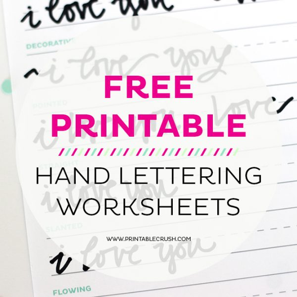 FREE Hand Lettering Worksheets for Beginners