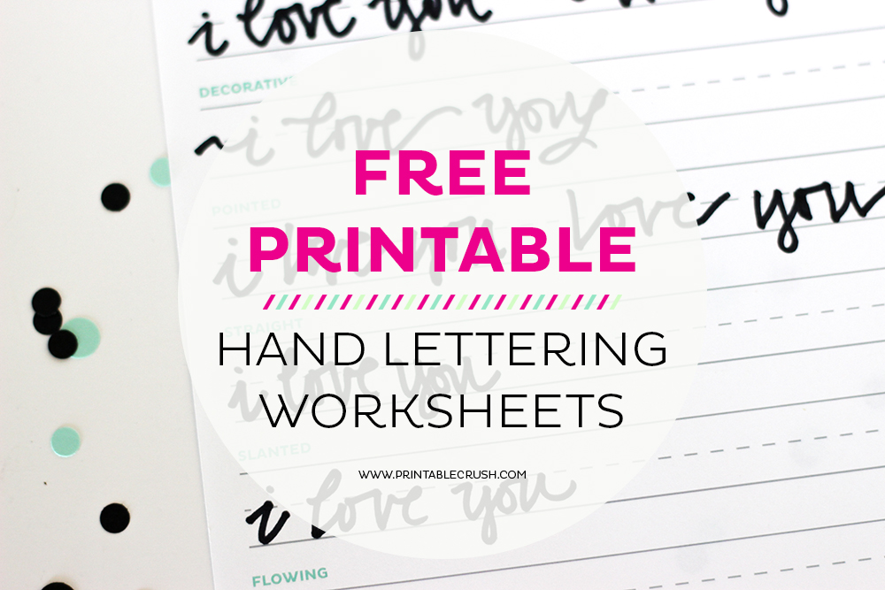3 FREE Hand Lettering Worksheets For Beginners