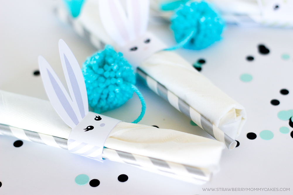 How to make Printable Easter Bunny Napkin Holders