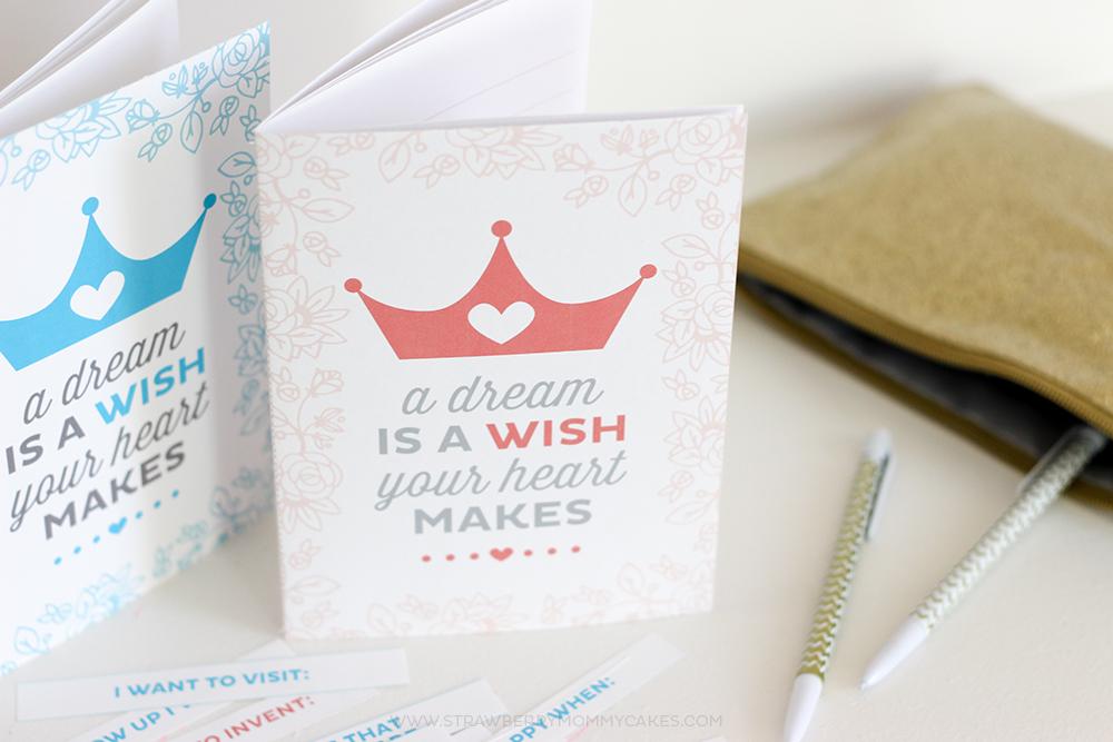 Printable Princess Dream Journal Gift Idea