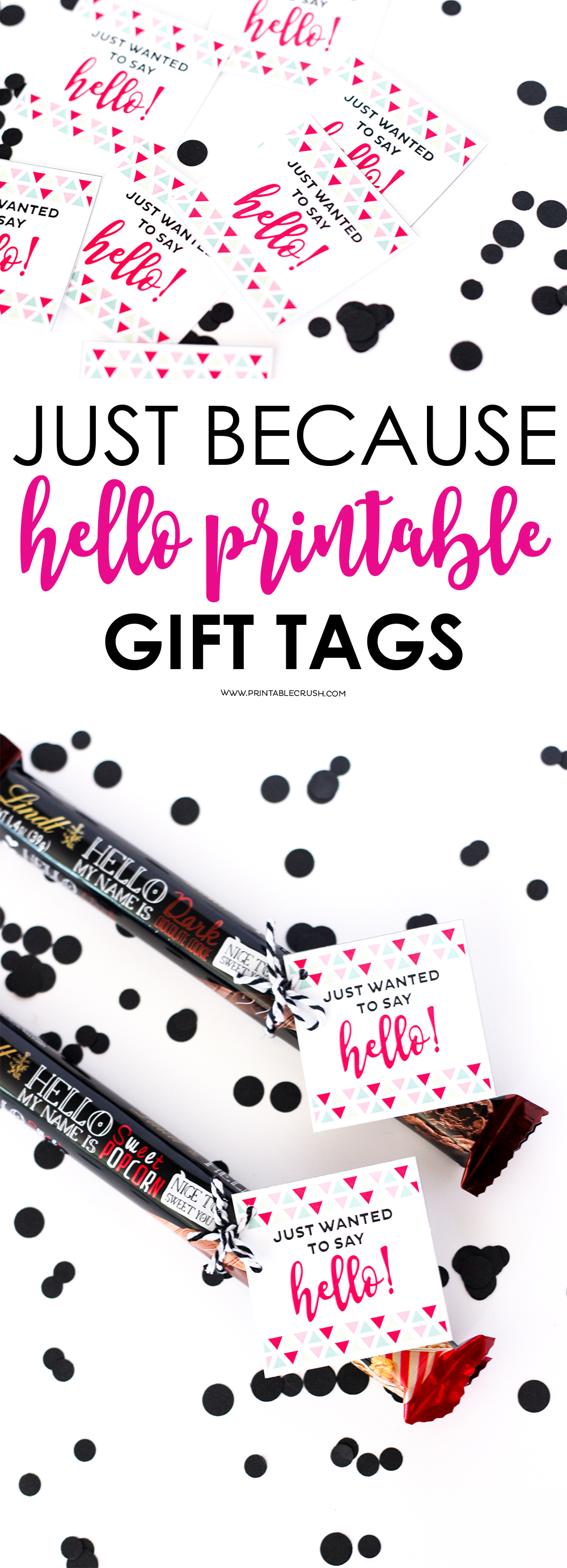 Hello printable gift tags printable crush its always a good time to make someones day with these hello printable gift tags negle Gallery