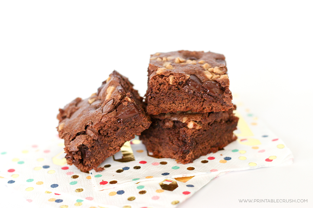Quick Salted Caramel Toffee Brownies