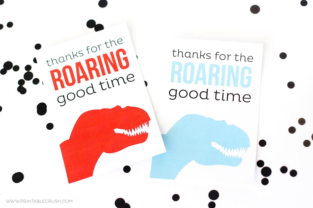 Free Printable Dinosaur Thank You Cards Printable Crush