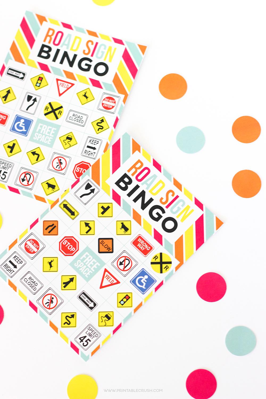 FREE Printable Road Sign Bingo Game - Printable Crush