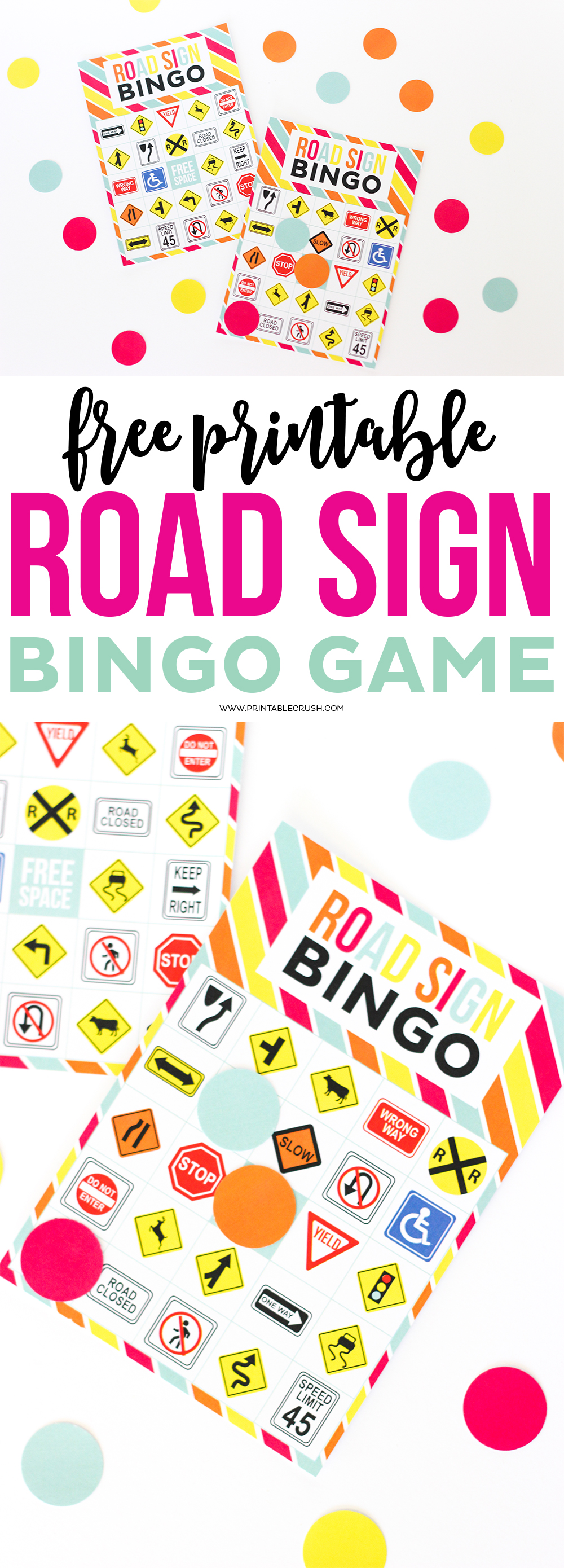 Free Printable Road Sign Bingo Game Printable Crush