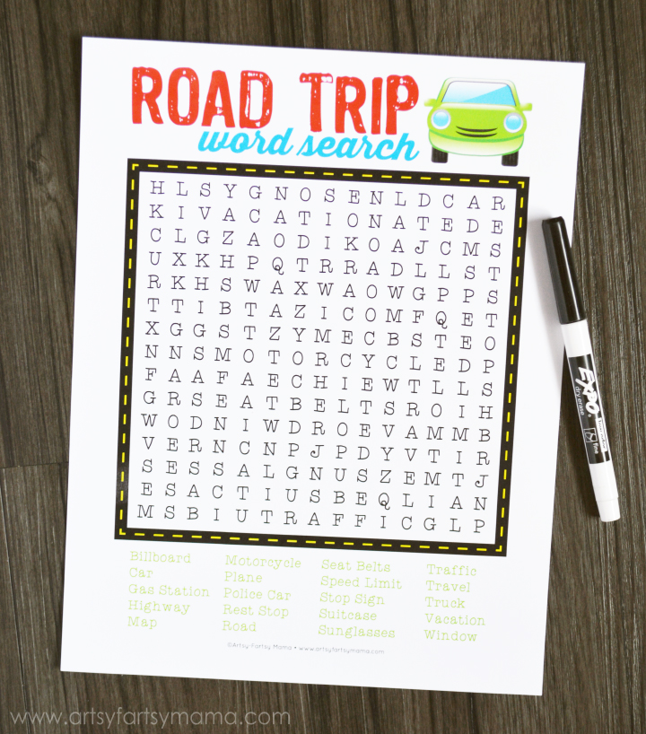 26 Road Trip Printables For Kids Printable Crush