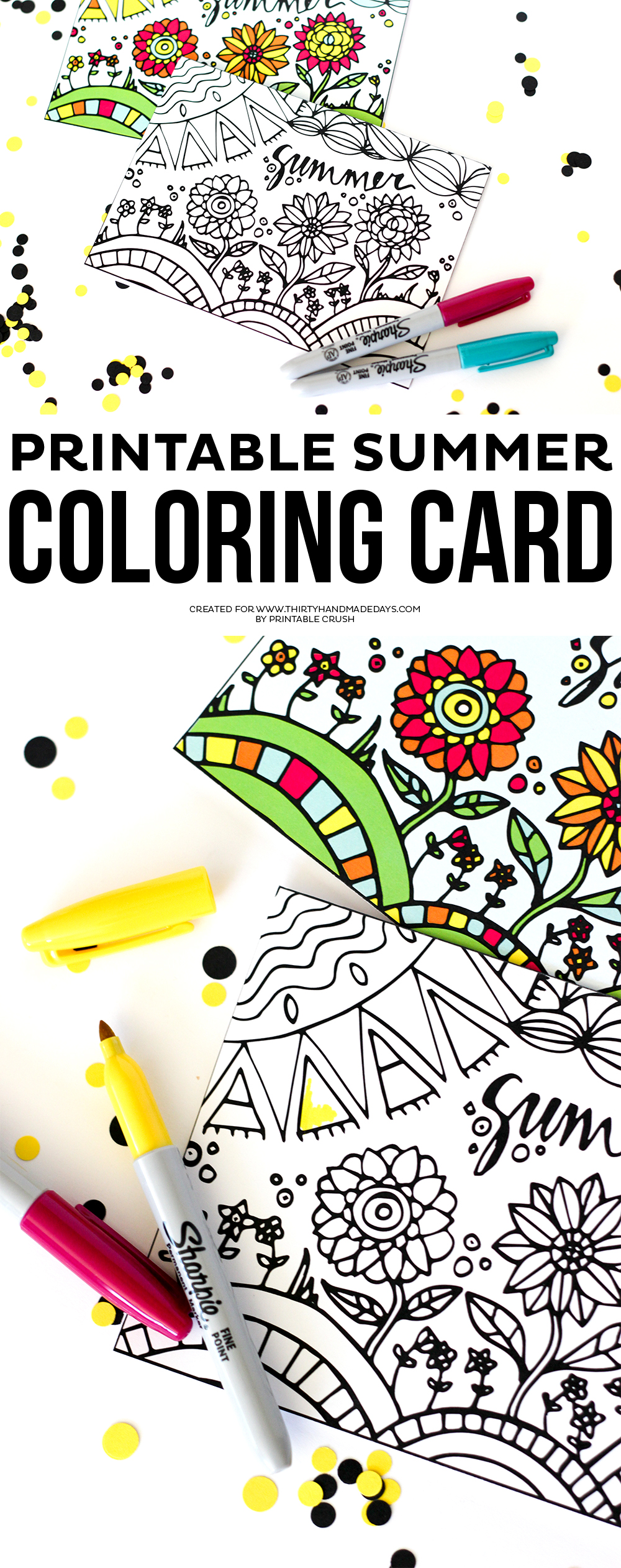 This Summer Printable Coloring Card is a great way to keep the kids busy over the break!