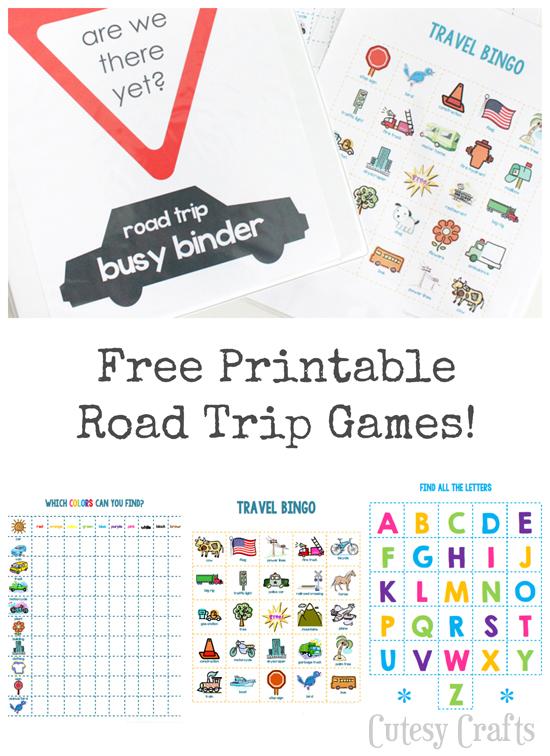 26 Road Trip Printables For Kids Printable Crush