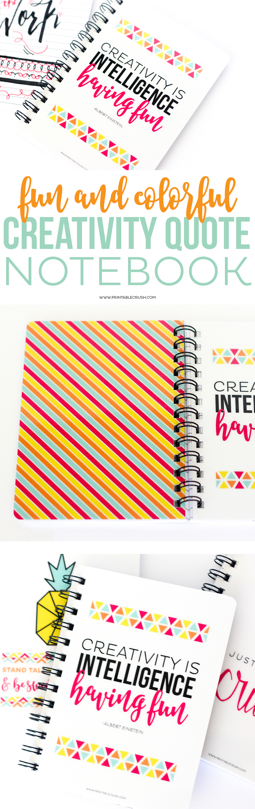 Keep those ideas flowing with this gorgeous Inspiring Quote Spiral Notebook! It has a durable laminated cover and lined pages for when inspiration strikes!