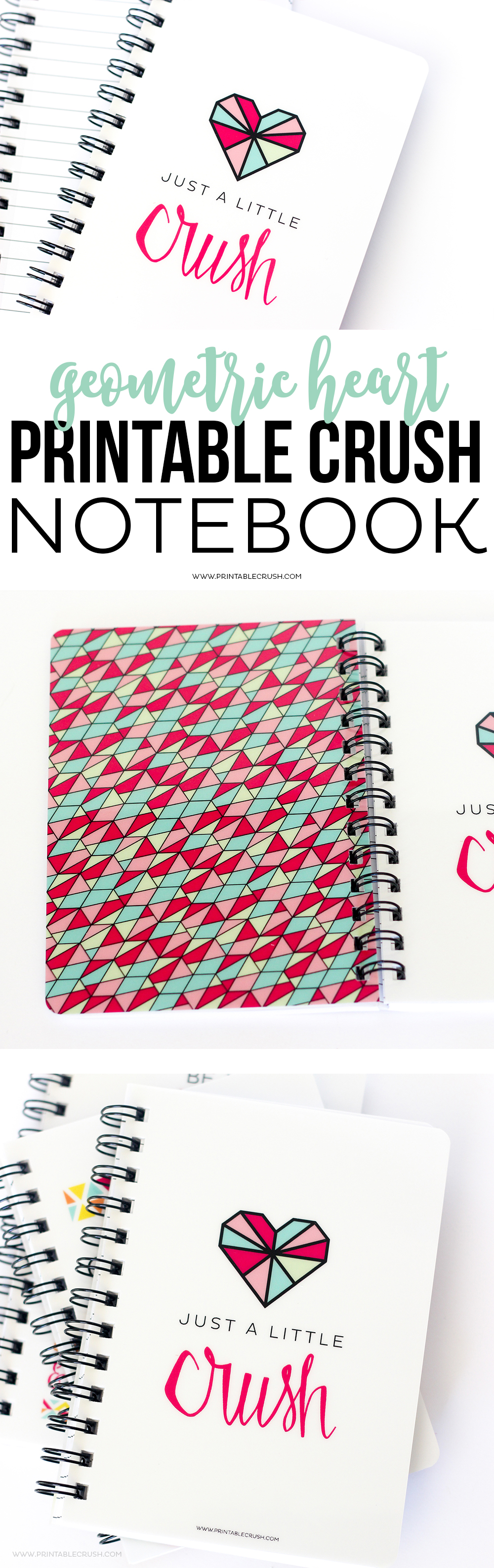 Keep those ideas flowing with this gorgeous Printable Crush Quote Spiral Notebook! It has a durable laminated cover and lined pages for when inspiration strikes!