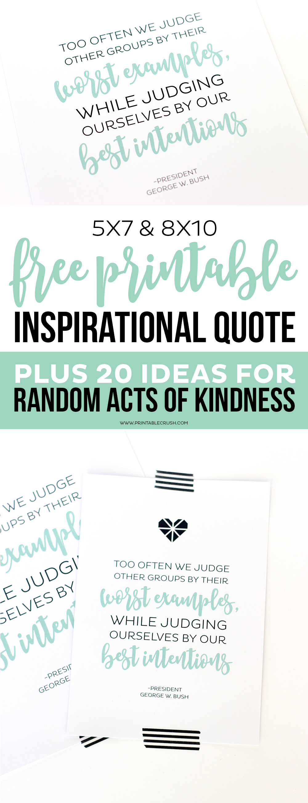 Quote About Kindness Free Printable Inspirational Quote And Random Acts Of Kindness