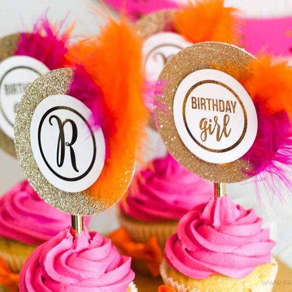 FREE Monogram Printable Cupcake Toppers