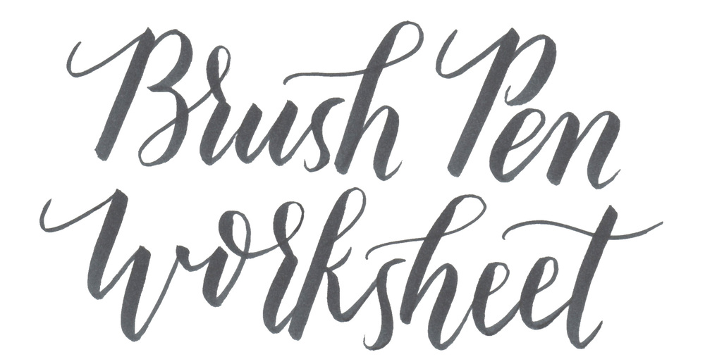 More hand lettering and brush tutorials