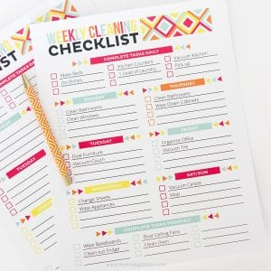 Get your home clean and organized with this Adobe Reader Editable Cleaning Schedule and Checklist!