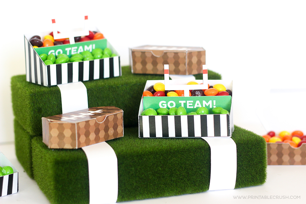FREE Printable Football Stadium Treat Holders