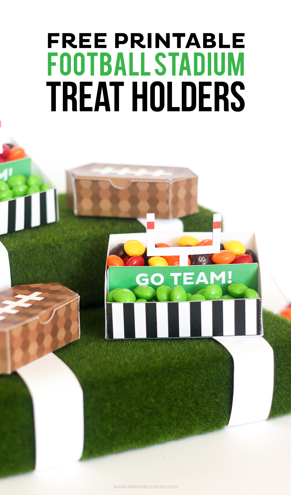 free printable football stadium treat holders printable crush