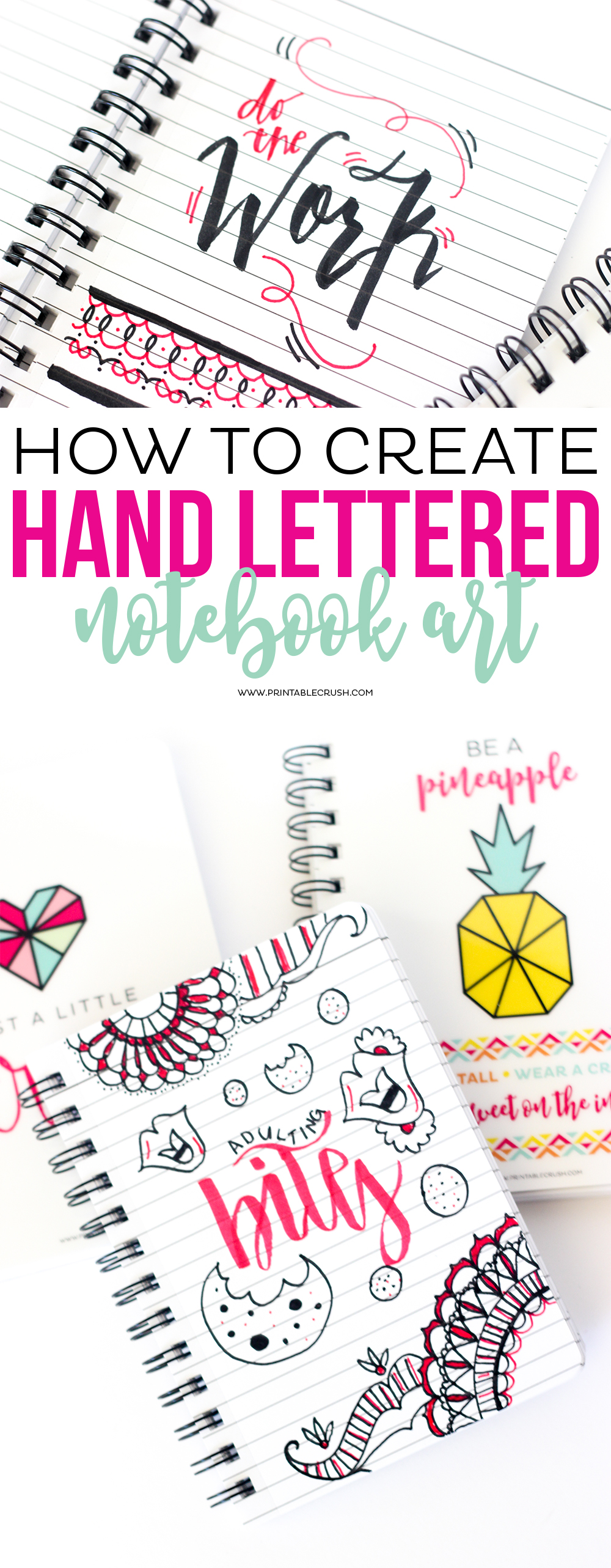 How To Create Hand Lettered Notebook Art Printable Crush