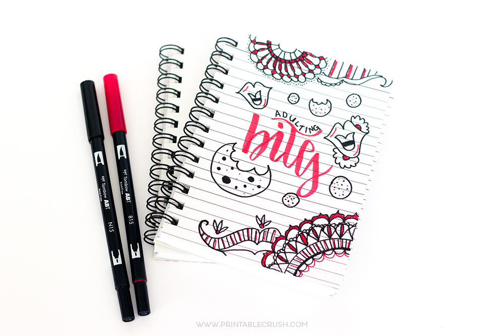 Learn to create beautiful Hand Lettered Notebook Art with these simple steps! It's all the more fun with the NEW Printable Crush Notebooks for Creatives!
