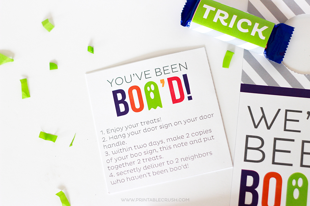 FREE Printable You've Been Boo'd Halloween Kit