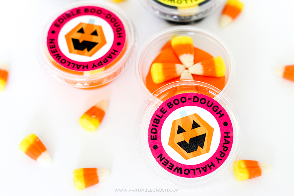 FREE Edible Play Dough Halloween Printables