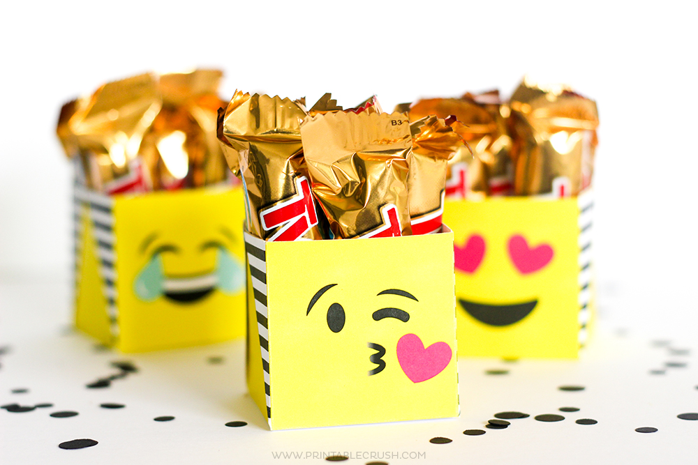 free printable emoji gift boxes   printable crush