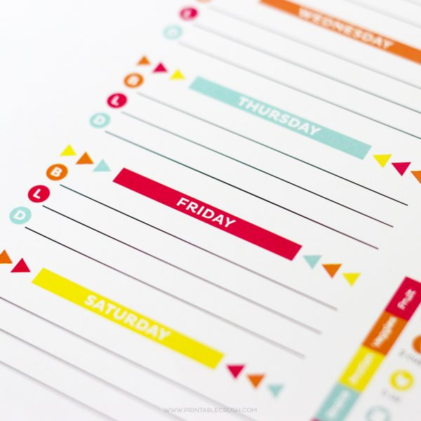 Use this EDITABLE Printable Meal Planner to keep track of your menu plan and health goals! Includes printables for monthly and weekly tracking!