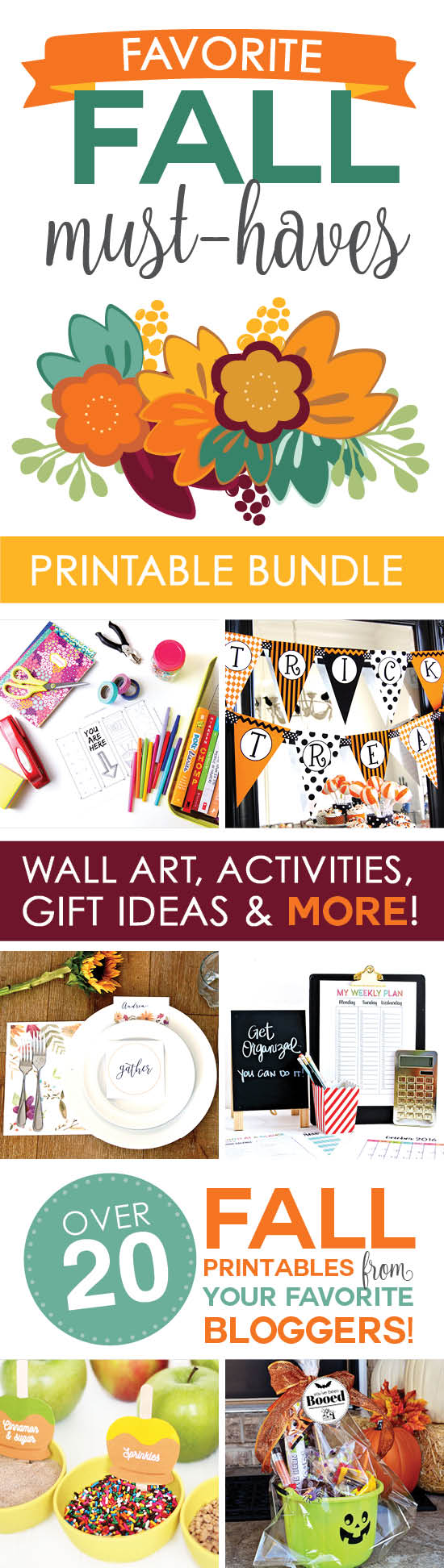 This GIGANTIC Fall Printable Bundle has everything you need to celebrate Fall this year! It includes printable from some of the best and most creative bloggers!