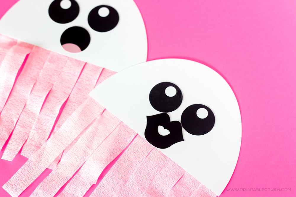 FREE Printable Ghost Halloween Craft