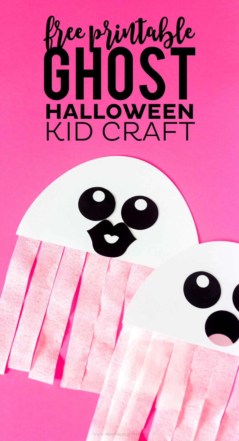Printable Halloween Classroom Decorations ~ Free printable ghost halloween craft crush