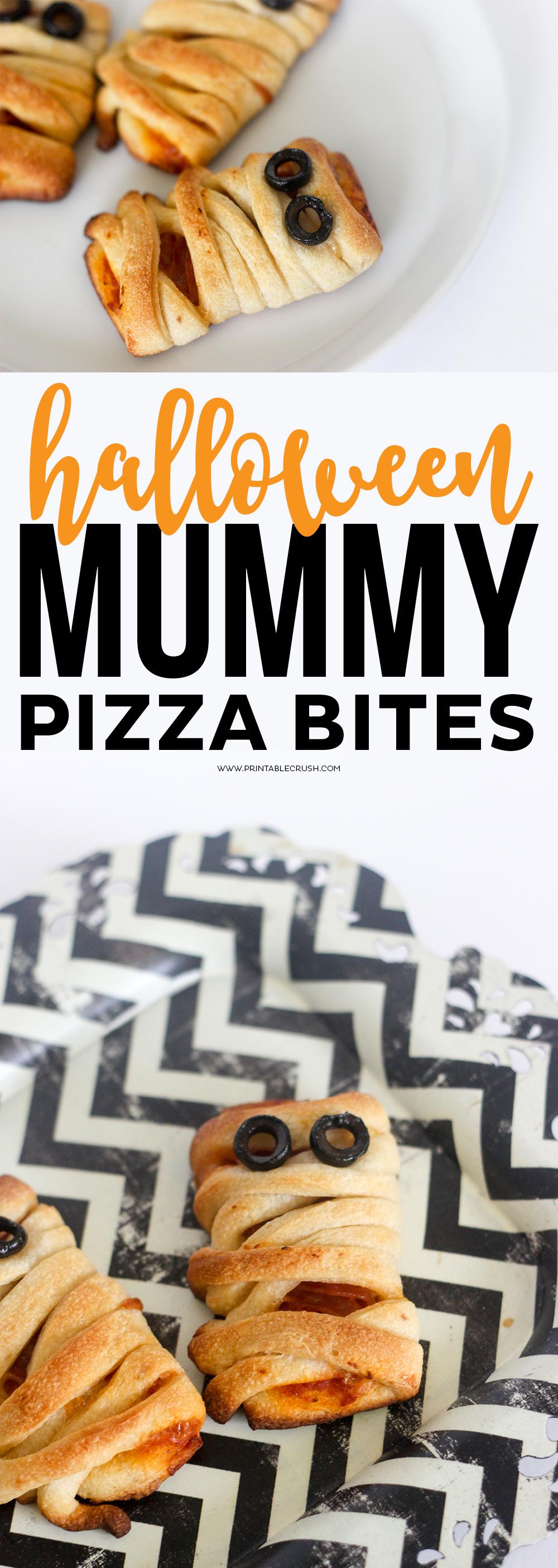 Halloween Mummy Pizza Bites - Printable Crush