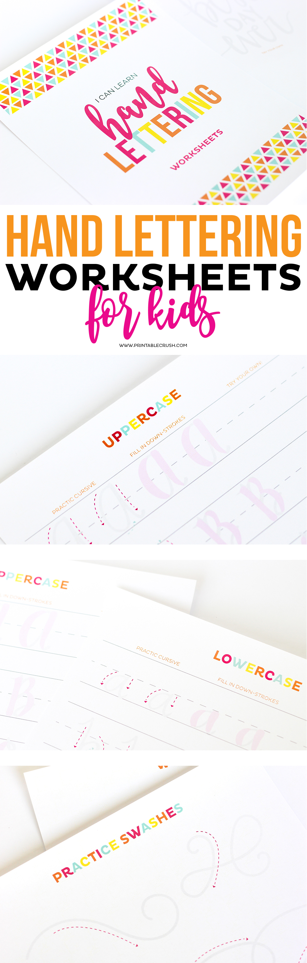 Teach Your Kids Hand Lettering With These Worksheets For This Is Great