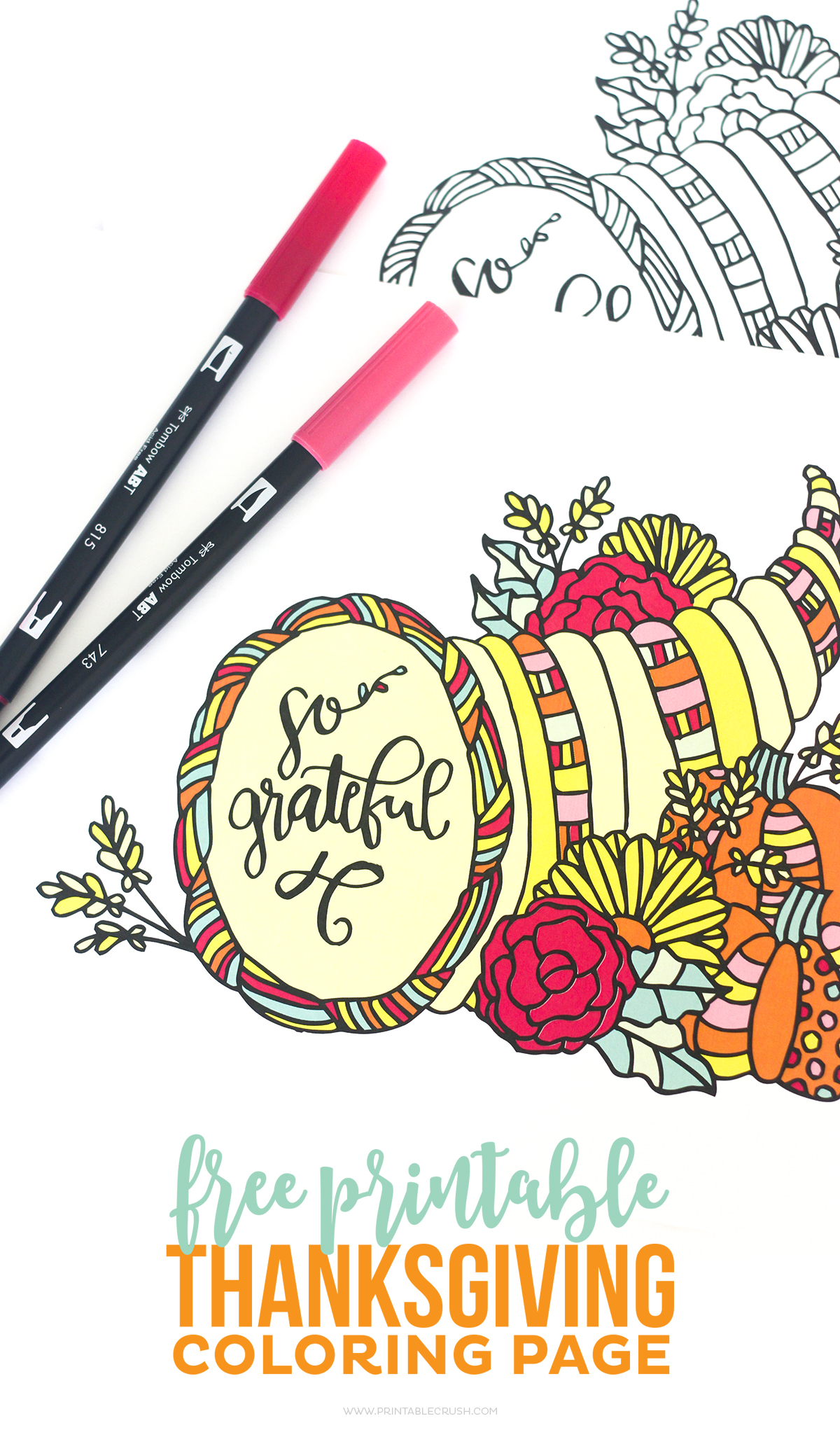 free printable thanksgiving coloring page printable crush