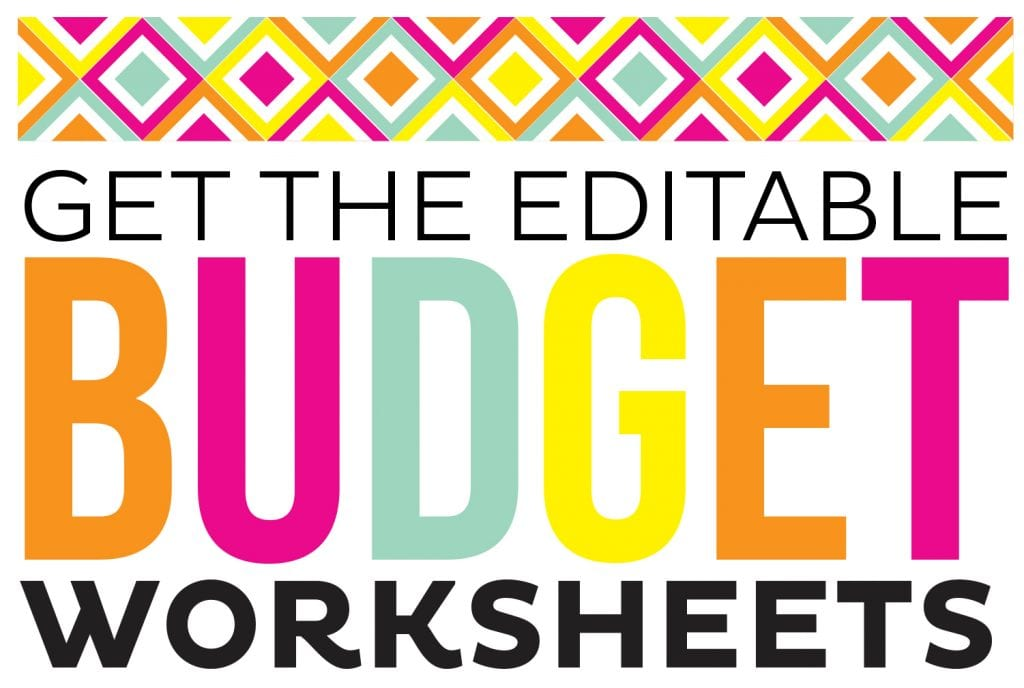 FREE Printable Budget Sheets - Printable Crush