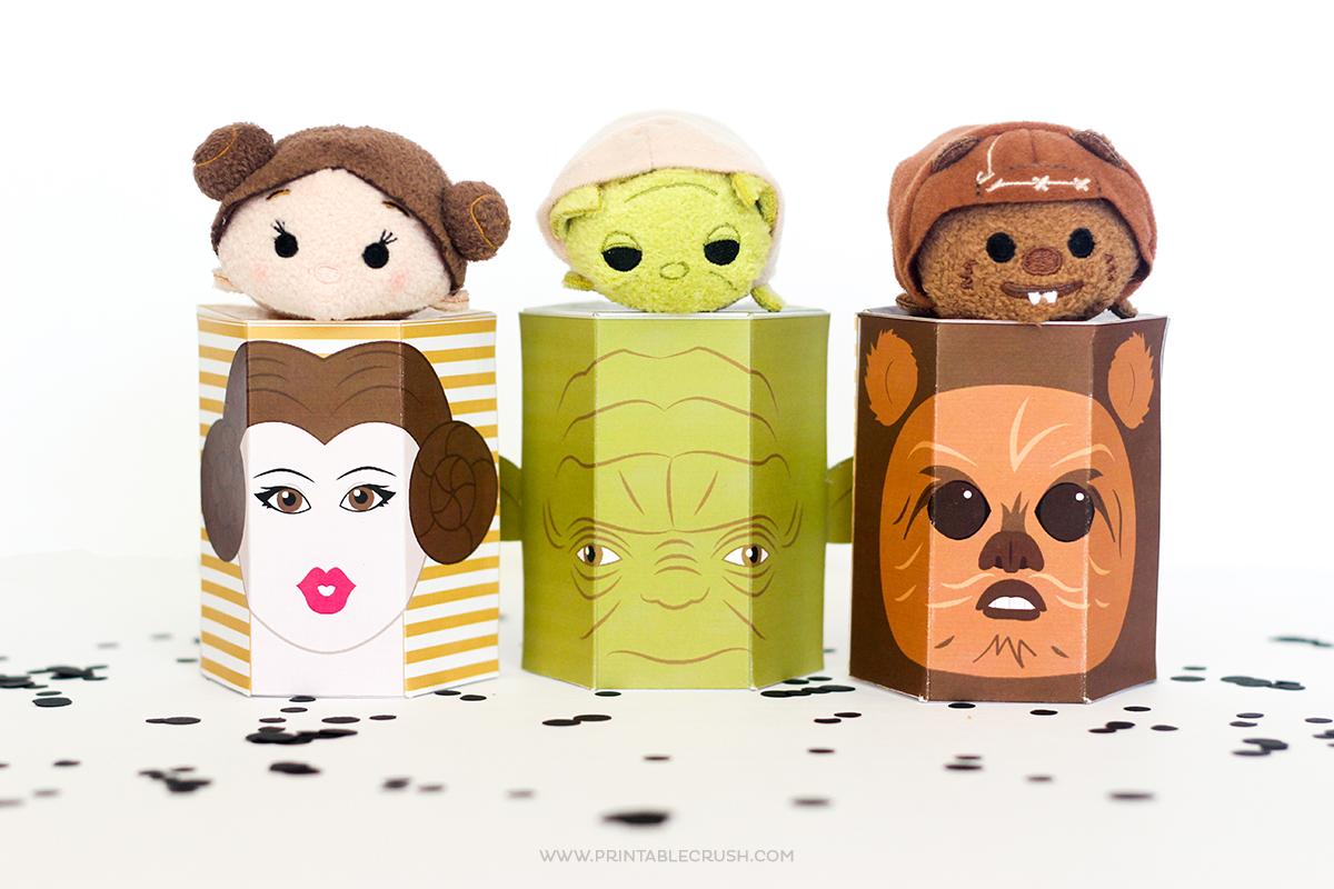 More Star Wars Free Printable Gift Boxes Printable Crush
