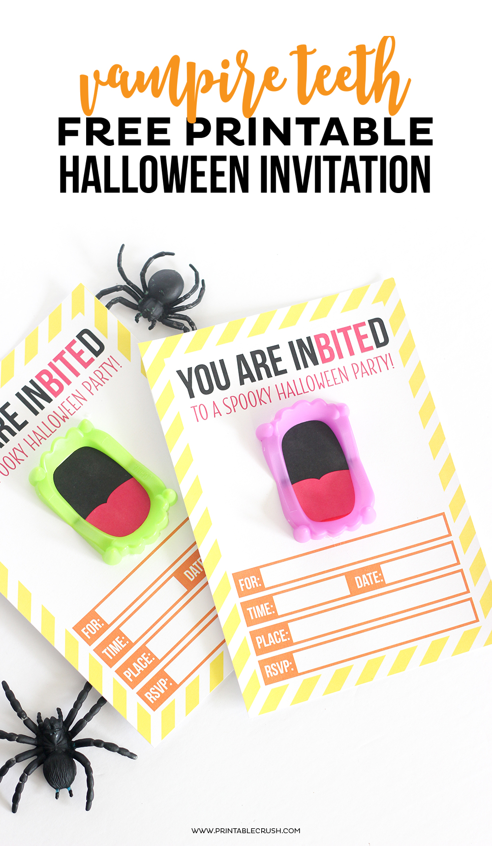 Download this FREE Printable Vampire Halloween Invitation for your Halloween Party! It's a fun, creative way to invite friends for a spooky get together!