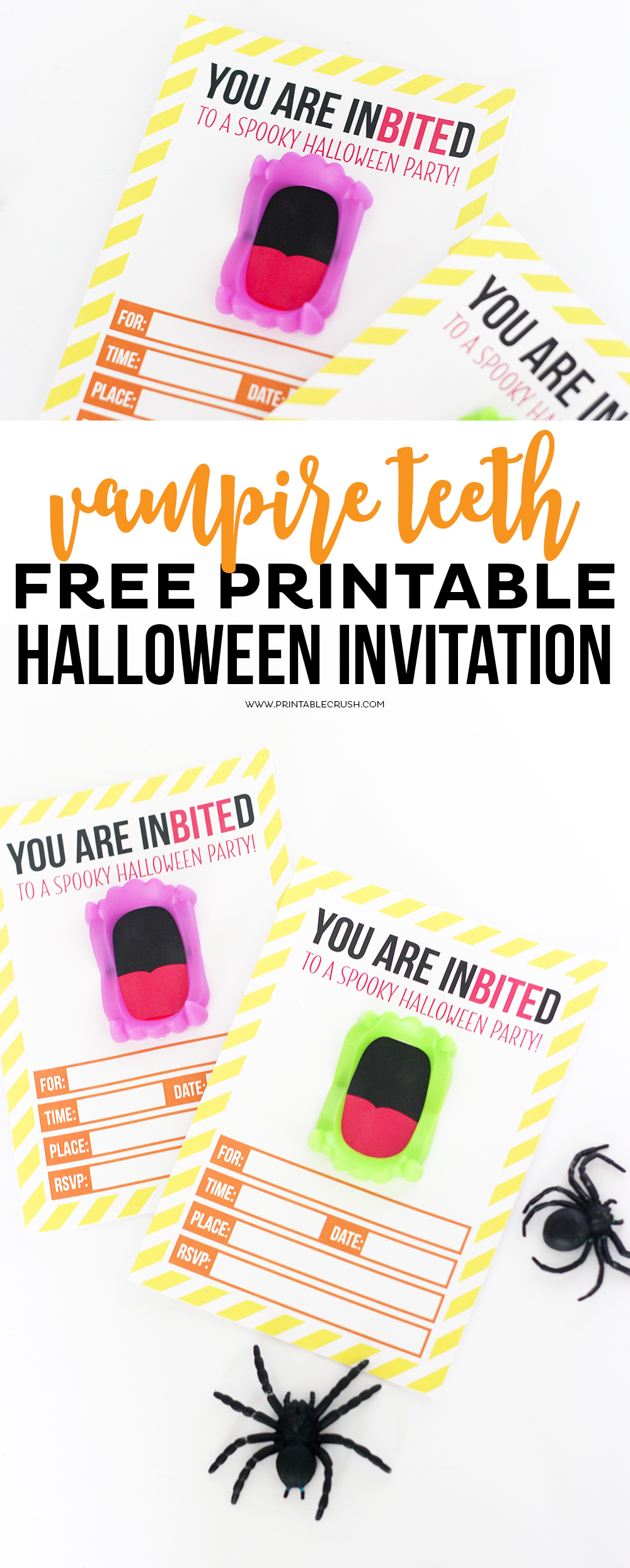 Free printable vampire halloween invitation printable crush for Halloween invitation free