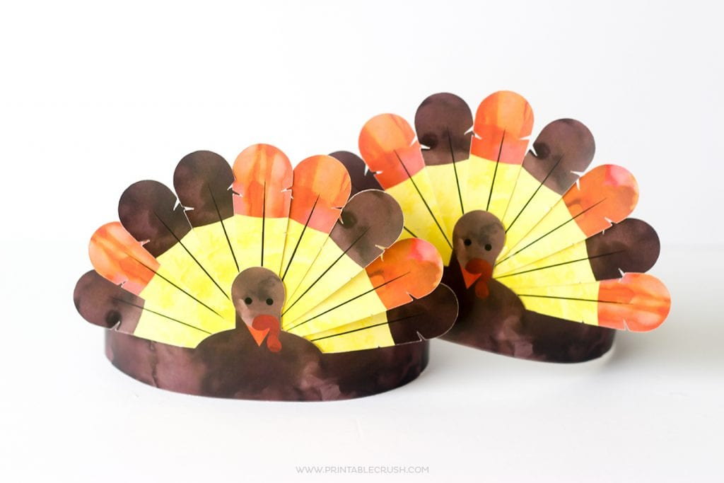 FREE Printable Thanksgiving Turkey Crowns