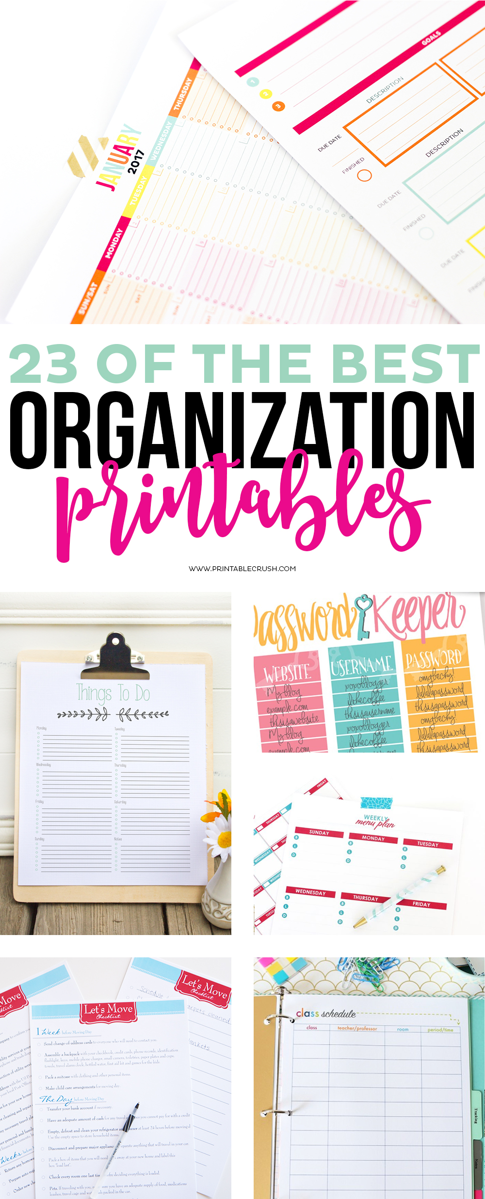 Calendar And Organization : Of the best organization printables printable crush
