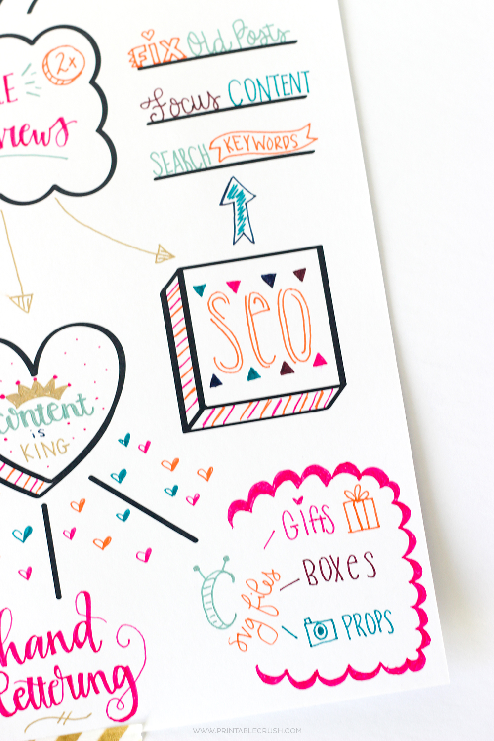 FREE Printable Hand Lettered Goal Setting Worksheet Printable Crush – Setting Worksheet