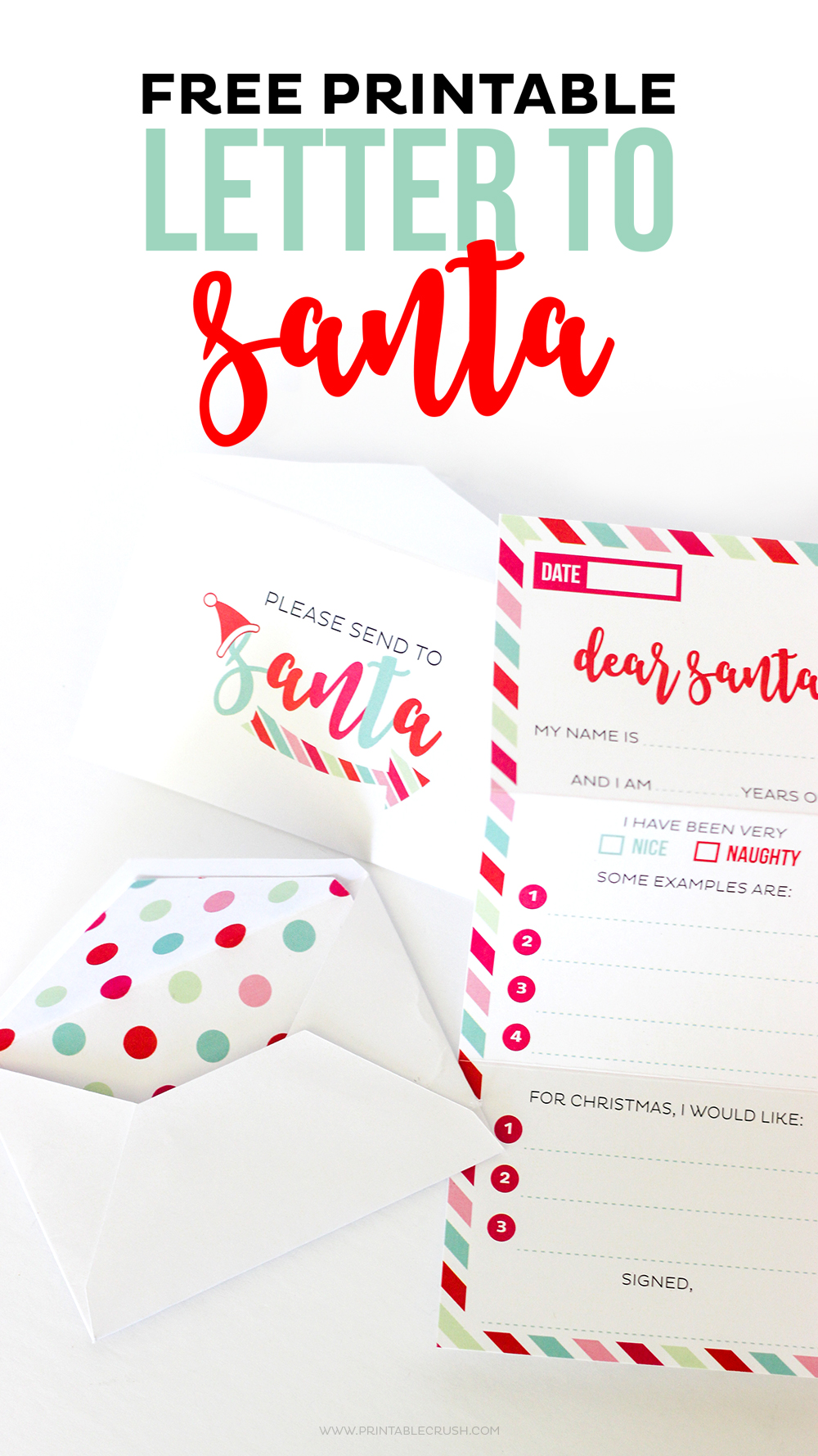 free santa letter printable envelope and liners printable crush