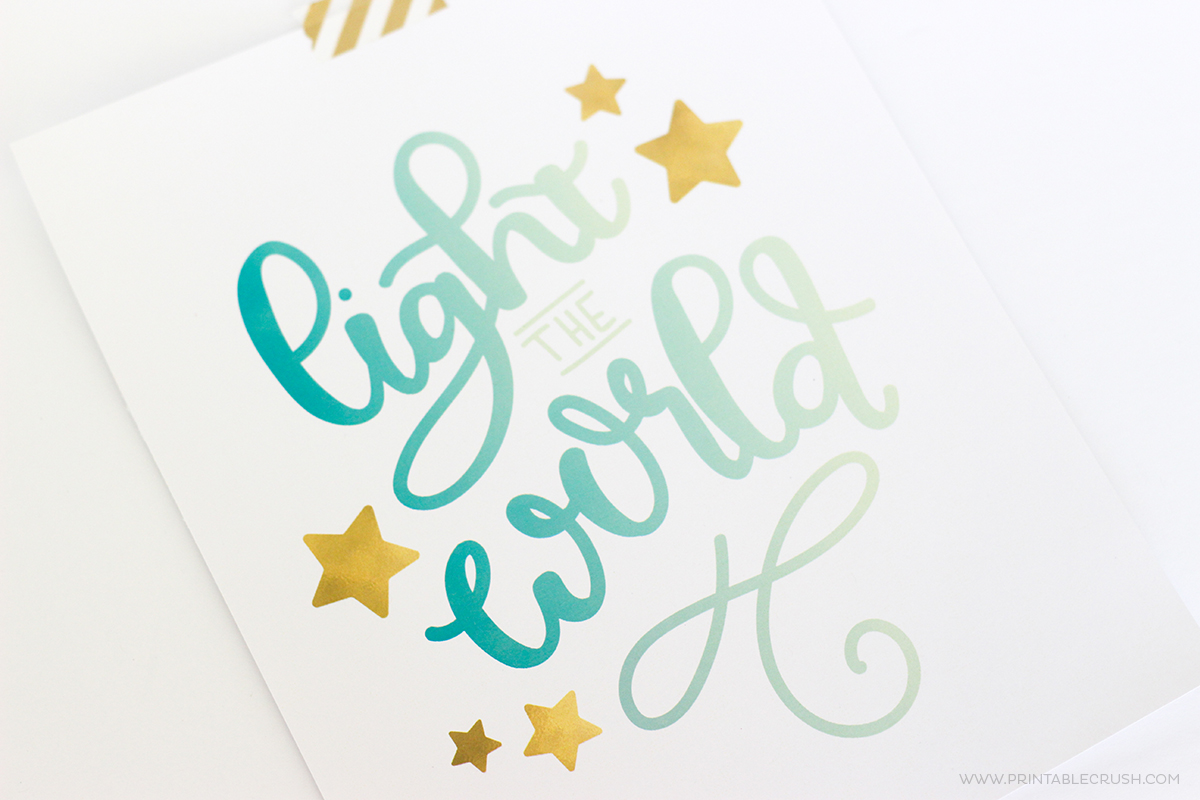 Light the World Christmas Hand Lettering Practice Guide