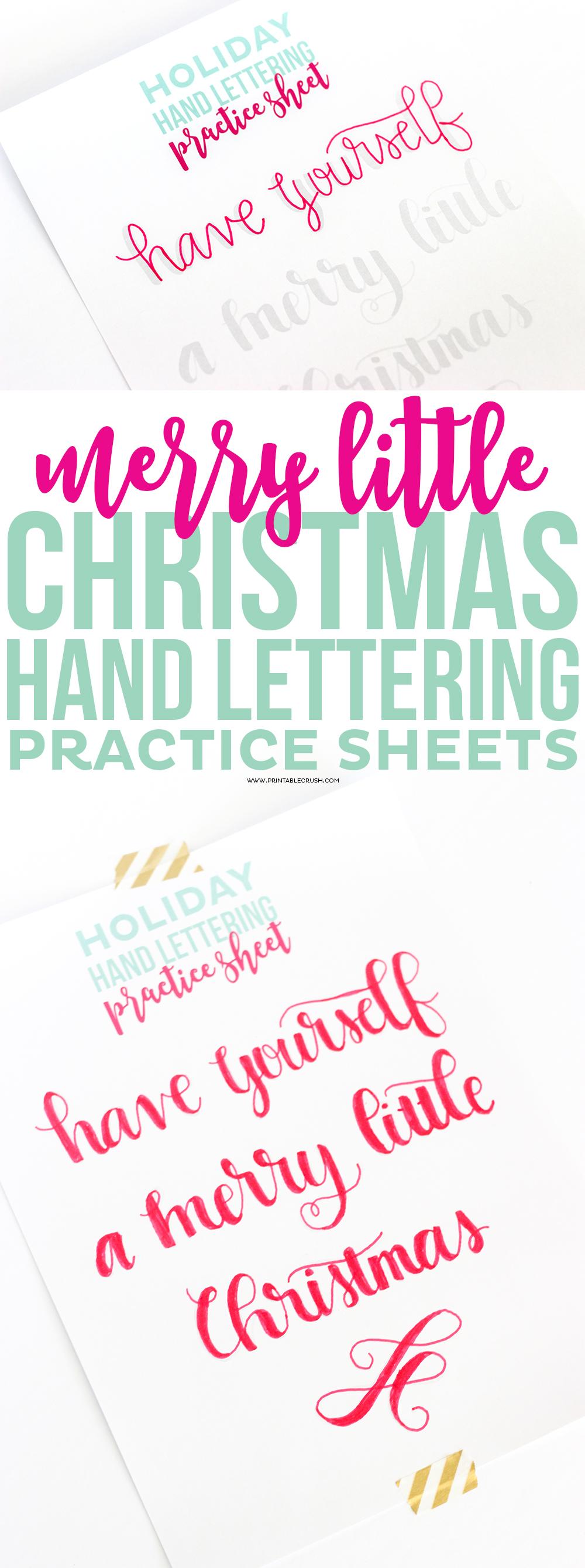 Handwriting help sheets