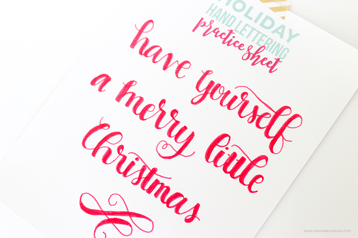 Download these FREE Printable Christmas Hand Lettering Practice Sheets will help you create the perfect hand-lettered artwork this holiday season!