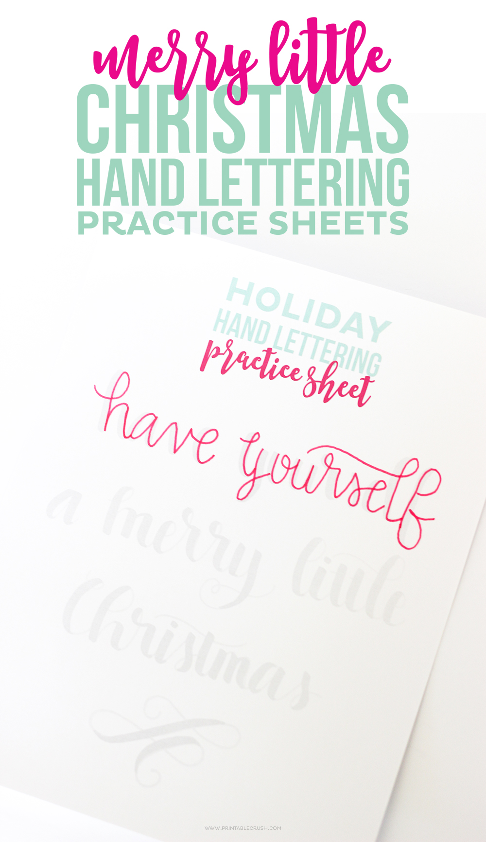 Download these FREE Printable Christmas Hand Lettering Practice Sheets ...