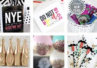 Today, I have rounded up 21 Chic and FREE New Year Printables and Party Decor Ideas! This includes everything you need for a fun and gorgeous party!