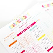 Make tax time a little less confusing with these Editable Printable Business Budge Worksheets! Includes expense and income track sheet, budget sheet, and a bonus password tracker for your online business accounts!